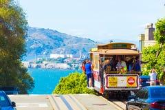 San Francisco Alcatraz Cable Car Hyde St Top Edge Royalty Free Stock Image