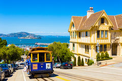 San Francisco Alcatraz Cable Car Hyde St Uphill Royalty Free Stock Photo