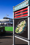 San Francisco Alcatraz Cruise Island Map Royalty Free Stock Photo