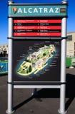 San Francisco Alcatraz Island Map Stock Image
