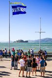 San Francisco Alcatraz from Pier 39 Royalty Free Stock Images
