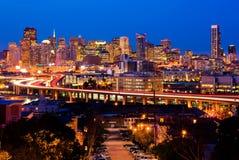 San Francisco alla notte immagine stock libera da diritti
