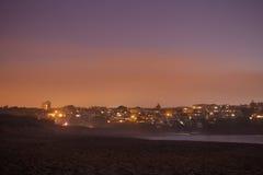 San Francisco alla notte - vista dalla spiaggia dei panettieri Immagine Stock