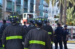 San Francisco Apartment Buidling Fire In The Mission Royalty Free Stock Image