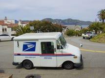 SAN FRANCISCO - 20 APRIL, 2017: Car of United States Postal Service, California, 2017. SAN FRANCISCO - 20 APRIL, 2017: Car of United States Postal Service in Stock Photography