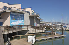 San Francisco aquarium on Embarcadero boulevard. Royalty Free Stock Images