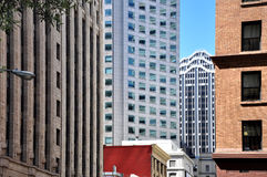 San francisco architectural contrasts Royalty Free Stock Photo