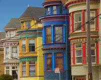 San Francisco architecture. Typical wood architecture in San Francisco, USA royalty free stock photo