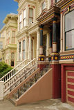 San Francisco architecture, California, USA. Typical San Francisco houses. Wood architecture stock photos