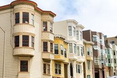 San Francisco architecture, wooden houses on hill Stock Photo