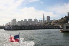 San Francisco as seen from the bay stock photos