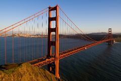 San Francisco At Sunset Stock Photo