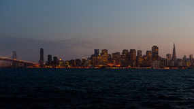 San Francisco au crépuscule Image libre de droits