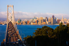 San Francisco au lever de soleil Photo stock