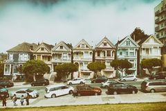 SAN FRANCISCO - AUGUST 5, 2017: The Painted Ladies. They are a r Royalty Free Stock Photos
