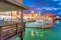 SAN FRANCISCO - AUGUST 3, 2017: Tourists in Fisherman Wharf at n Stock Image