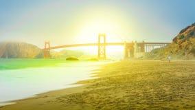 San Francisco Baker Beach stock footage