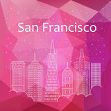 San Francisco for banner, poster, illustration, game Stock Photo