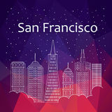 San Francisco for banner, poster, illustration, game Stock Photos