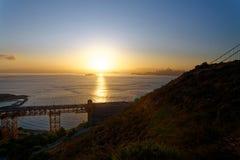 San Francisco Bay на восходе солнца Стоковые Фотографии RF