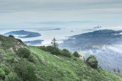 San Francisco Bay от пика Tamalpais держателя восточного Стоковая Фотография