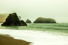 San Francisco Bay под густым туманом Стоковые Изображения RF