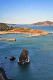San Francisco Bay. Overlook San Francisco Bay from Golden Gate Bridge royalty free stock photo