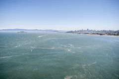 San Francisco bay aerial view Stock Images