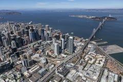 San Francisco Bay Afternoon Aerial Royalty Free Stock Photos