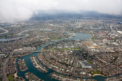 San Francisco Bay Area. Aerial view of San Francisco Bay Area with city skyline, in California stock photo