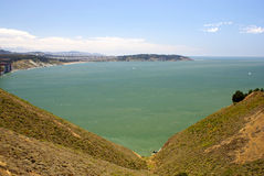 San Francisco Bay Area, California, view from road Royalty Free Stock Image