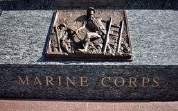 Sea Service members memorial, Marine Corps. The San Francisco Bay Area is, by definition, a port region. It was also the final part of America that most of the Royalty Free Stock Photography