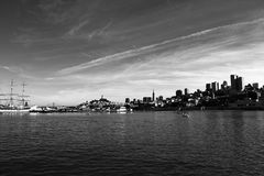 San Francisco Bay Area. Downtown view from the ocean Stock Image