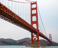 San Francisco Bay Area Golden Gate Bridge. This is a picture taken in San Francisco, California. I shows the famous golden gate bridge in the bay area without stock photo