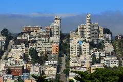 San Francisco Bay Area street ocean view Stock Photo