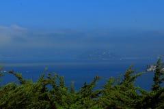 San Francisco Bay Area street ocean view Stock Photography