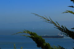 San Francisco Bay Area street ocean view Royalty Free Stock Photography