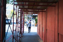 San Francisco Bay Area street scene. Great people great building Royalty Free Stock Photos