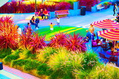 San Francisco Bay Area street scene. Great people great building Royalty Free Stock Images