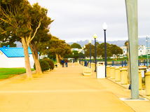 San Francisco Bay Area street scene. Great people great building Stock Image