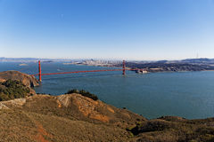 San Francisco Bay Area view. View of San Francisco Bay Area and Golden Gate Stock Image