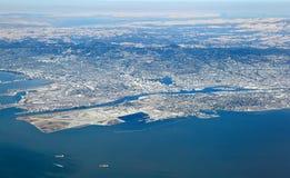 San Francisco Bay Area : Vue aérienne de région est de baie image libre de droits