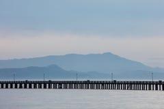 San Francisco Bay, Berkeley Pier and Mount Tamalpais Stock Photo