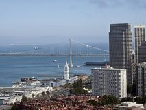 San Francisco and Bay Bridge Royalty Free Stock Image
