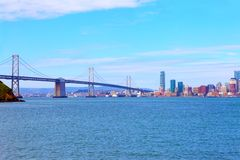 The san francisco bay bridge Royalty Free Stock Image
