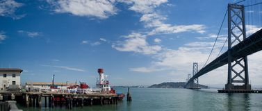 San Francisco Bay Bridge royalty free stock photos