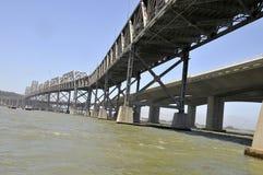 San Francisco Bay Bridge. Construction of New Bay Bridge alongside of old existing Bay Bridge in the San Francisco Area Stock Photography