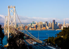 San Francisco and Bay Bridge Royalty Free Stock Photography