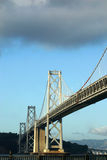 San Francisco Bay Bridge. With storm clouds above Royalty Free Stock Photography