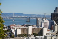 San francisco - bay bridge. Downtown san francisco bay bridge Royalty Free Stock Photos